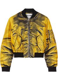 Blouson aviateur imprimé jaune Moschino