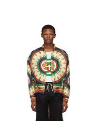 Blouson aviateur imprimé multicolore Gucci