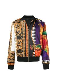 Blouson aviateur imprimé multicolore Versace