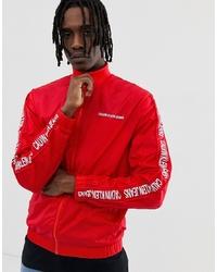 Blouson aviateur imprimé rouge Calvin Klein Jeans