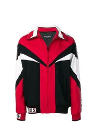 Blouson aviateur imprimé rouge Dolce & Gabbana