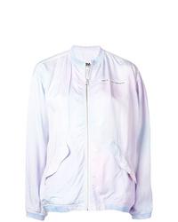 Blouson aviateur imprimé tie-dye violet clair MM6 MAISON MARGIELA