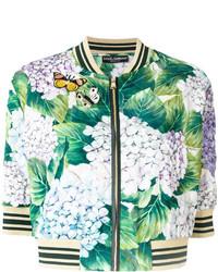 Blouson aviateur imprimé vert menthe Dolce & Gabbana