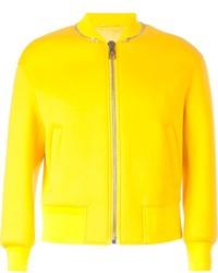 Blouson aviateur jaune