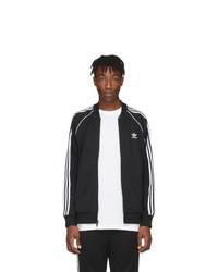 Blouson aviateur noir et blanc adidas Originals