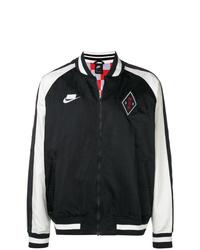 Blouson aviateur noir et blanc Nike