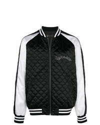 Blouson aviateur noir et blanc Versace