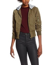 Blouson aviateur olive Miss Selfridge