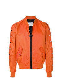 Blouson aviateur orange