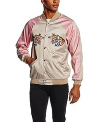 Blouson aviateur rose Jaded London