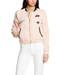 Blouson aviateur rose Only