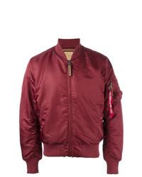 Blouson aviateur rouge Alpha Industries