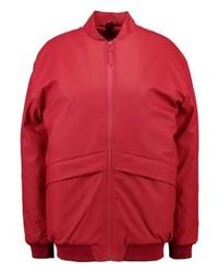 Blouson aviateur rouge Rains
