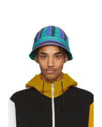 Bob à rayures verticales multicolore Marni