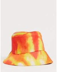 Bob imprimé tie-dye orange boohooMAN