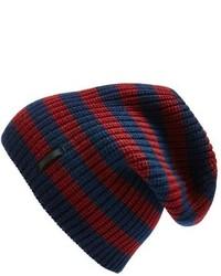 Bonnet à rayures horizontales bleu marine