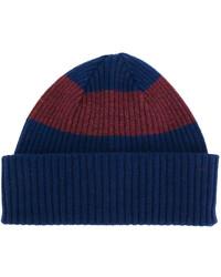 Bonnet à rayures horizontales bleu marine Paul Smith