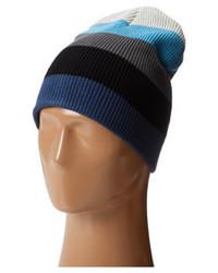 Bonnet à rayures horizontales bleu