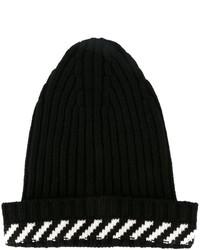 Bonnet à rayures horizontales noir Off-White