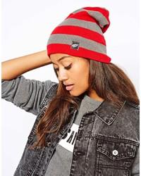 Bonnet à rayures horizontales rouge Zephyr