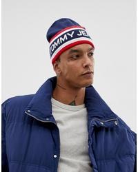 Bonnet blanc et rouge et bleu marine Tommy Jeans