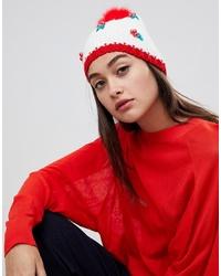 Bonnet blanc et rouge Boardmans