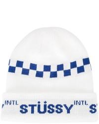 Bonnet blanc Stussy