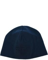 Bonnet bleu marine Emporio Armani