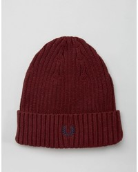 Bonnet bordeaux Fred Perry