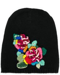 Bonnet brodé noir Ermanno Scervino