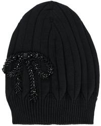 Bonnet brodé noir No.21