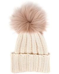 Bonnet en fourrure blanc Inverni