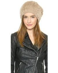 Bonnet en fourrure brun clair Adrienne Landau
