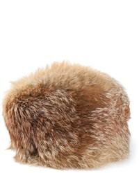 Bonnet en fourrure brun clair