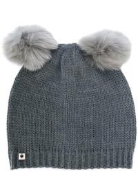 Bonnet en fourrure gris foncé Twin-Set