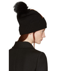 Bonnet en fourrure noir Dolce & Gabbana