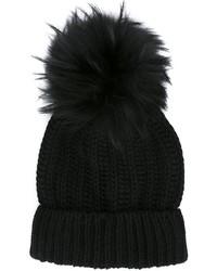Bonnet en fourrure noir Blugirl