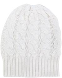 Bonnet en tricot blanc Antonia Zander