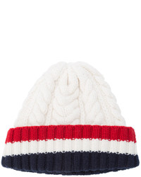 Bonnet en tricot blanc Thom Browne
