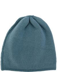 Bonnet en tricot bleu canard Danielapi