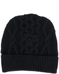Bonnet en tricot bleu marine