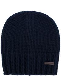 Bonnet en tricot bleu marine DSQUARED2