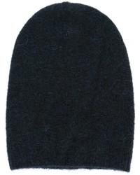 Bonnet en tricot bleu marine Laneus