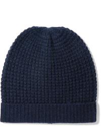 Bonnet en tricot bleu marine Madeleine Thompson