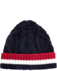 Bonnet en tricot bleu marine Thom Browne