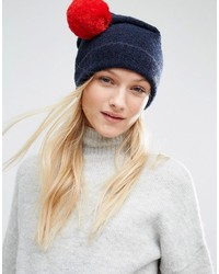 Bonnet en tricot bleu marine Tommy Hilfiger
