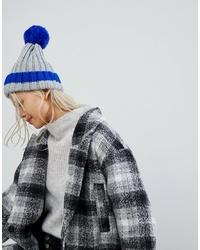 Bonnet en tricot bleu Brave Soul