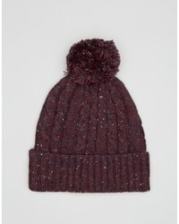 Bonnet en tricot bordeaux