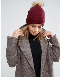 Bonnet en tricot bordeaux Alice Hannah