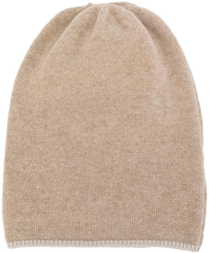 Bonnet en tricot brun clair Danielapi